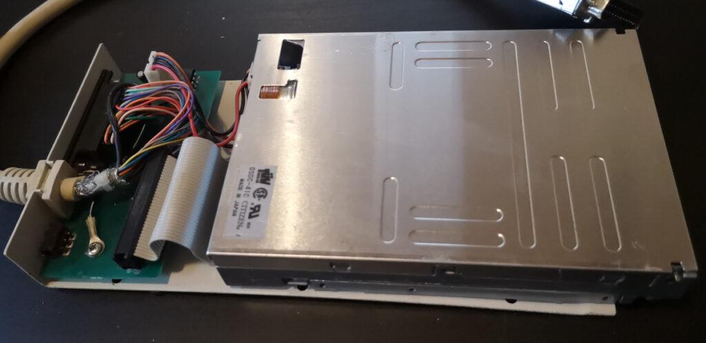 "External 3.5"" floppy drive - open"